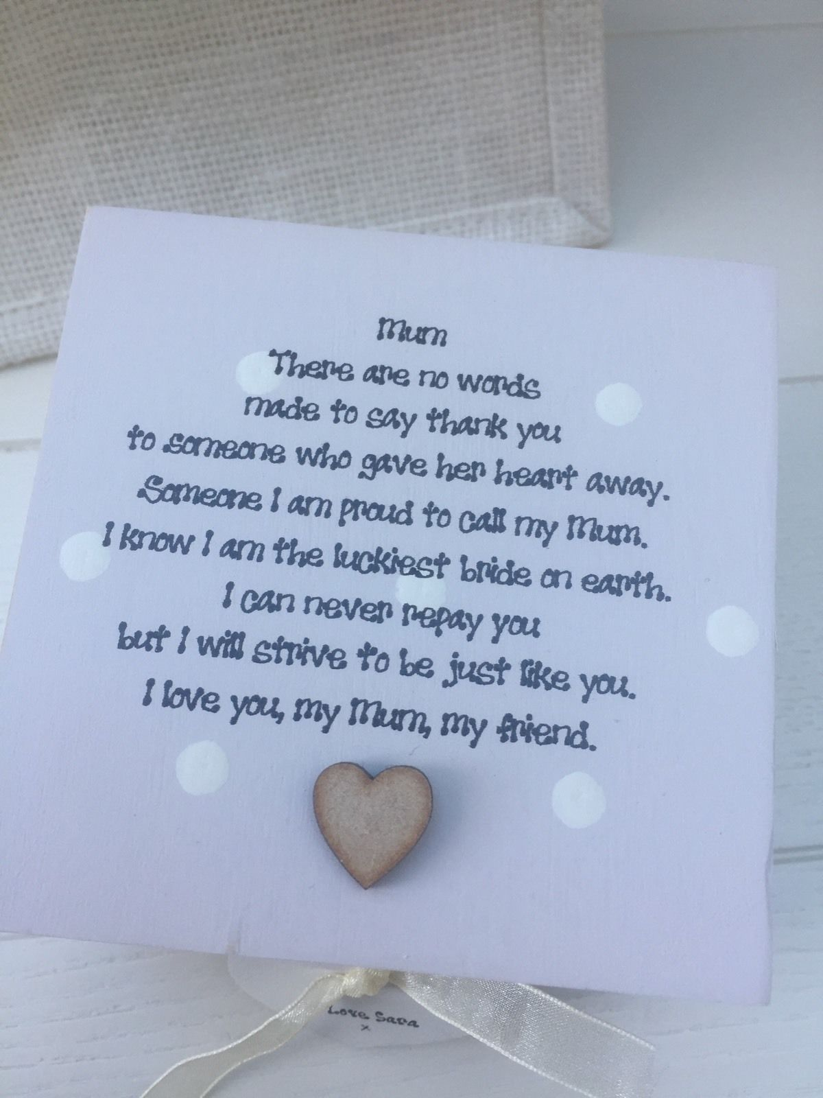 shabby personalised chic mother of the bride wedding gift set mum